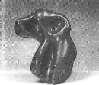 Hans Arp: Menschlich. 1950. Bronze, 28 x 22,8 x 17 cm. Privatbesitz.